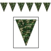 "Camo Flag Pennant Banner, 10"" x 12', 4/Pack"