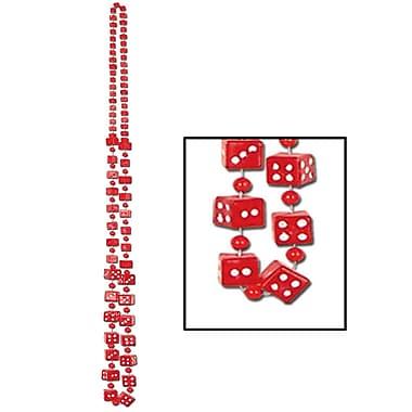 Perles Dés, 48 po, rouge, paq./4