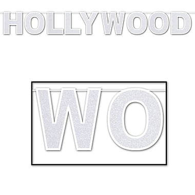 Banderole scintillante Hollywood, 8 1/2 po x 8 pi, 2/paquet