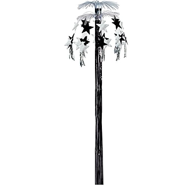 Beistle 8' Hanging Star Cascade Fountain, Black/Silver, 2/Pack