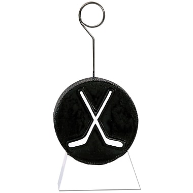 Porte-ballon/porte-photo en forme de rondelle de hockey, 6 onces, paquet de 3