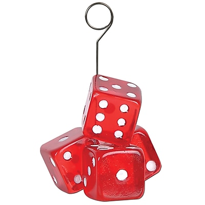 Beistle 6 oz. Dice Photo/Balloon Holder, 3/Pack 1068055