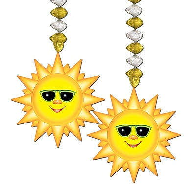 """""Beistle 30"""""""" Sunburst Danglers, 8/Pack"""""" 1068052"
