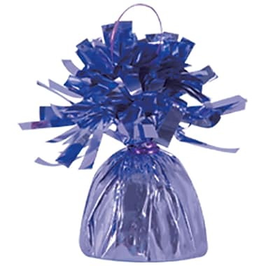 Metallic Wrapped Balloon Weight, Each Photo/Balloon Weight Weighs 6 Ounces, Lavender, 14/Pack