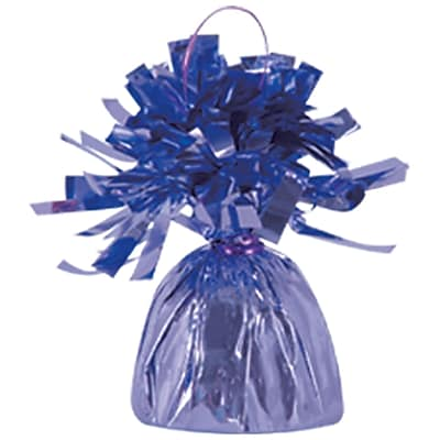 Beistle 6 oz. Metallic Wrapped Balloon Weights, Lavender, 12/Pack