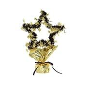 """Beistle 11 1/2"""" Star Gleam 'N Shape Centerpiece, Gold, 3/Pack"""