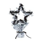 """Beistle 11 1/2"""" Star Gleam 'N Shape Centerpiece, Silver, 3/Pack"""