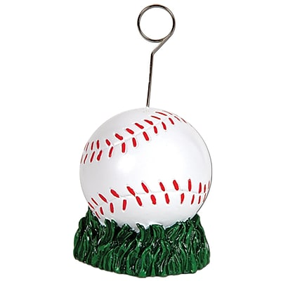 Beistle 6 oz. Baseball Photo/Balloon Holder; 3/Pack
