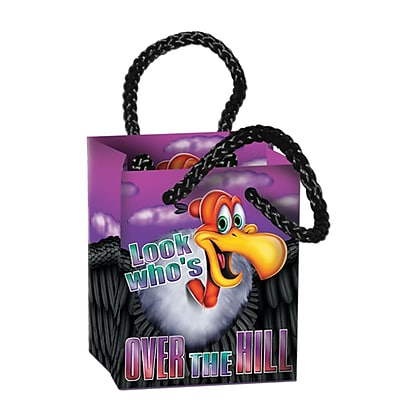 Beistle Over-The Hill Mini Gift Bag Party Favors, 2 1/2