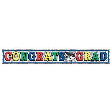 Metallic Congrats Grad Fringe Banner, 8