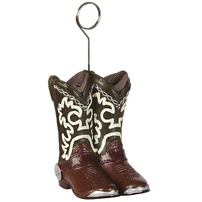 Beistle 6 oz. Cowboy Boots Photo/Balloon Holder, 3/Pack