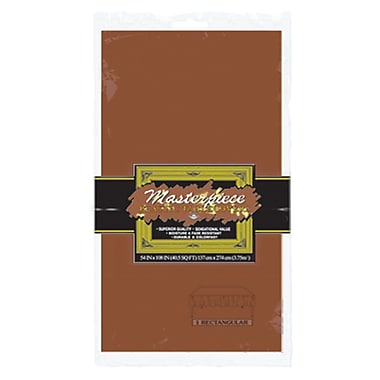 Nappe rectangulaire en plastique, 54 x 108 po, brun chocolat, paquet de 6