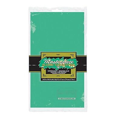 Nappe rectangulaire en plastique, 54 x 108 po, vert, paquet de 6