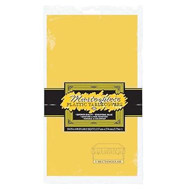 Nappe rectangulaire en plastique, 54 x 108 po, jaune doré, paquet de 6