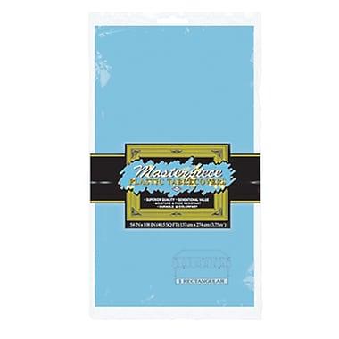 Nappe rectangulaire en plastique, 54 x 108 po, bleu pâle, paquet de 6