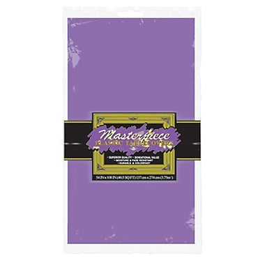 Nappe ronde en plastique, 84 po, violet, paquet de 4