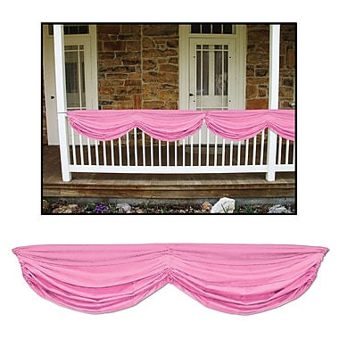 Pink Baby Shower Fabric Bunting, 5' x 10