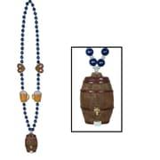 "Beistle Oktoberfest Beads Necklace With Keg Medallion, 40"""