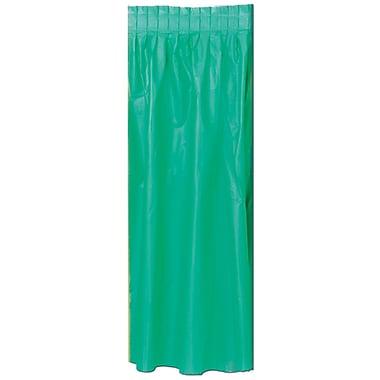 Jupe de table en plastique , 29 po x 14 pi, vert, paquet de 2