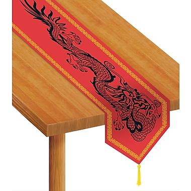 Chemin de table imprimé avec motifs asiatiques, 11 po x 6 pi, paquet de 4