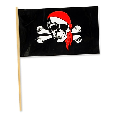 Small Plastic Pirate Flag, 4
