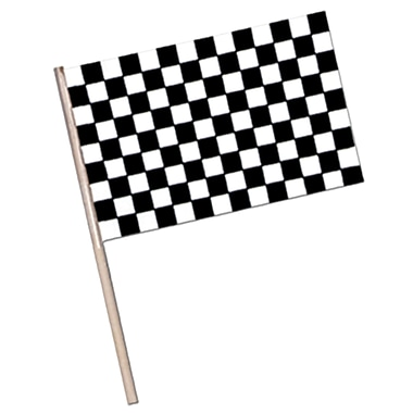 Small Checkered Plastic Flag, 4