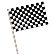 "Small Checkered Plastic Flag, 4"" x 6"", 38/Pack"