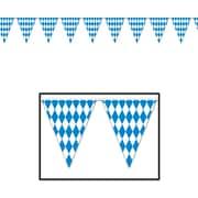 Bannière à fanions Oktoberfest, 10 po x 12 pi, paq./4