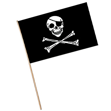 Drapeau de pirate en plastique, 11 x 17 po, 17/paquet