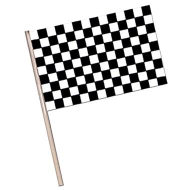 Grand drapeau damier en plastique, 11 x 17 po, 17/paquet