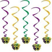 Beistle 3' Mardi Gras Whirls, 15/Pack