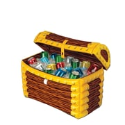 "Inflatable Treasure Chest Cooler, 24"" x 17"""