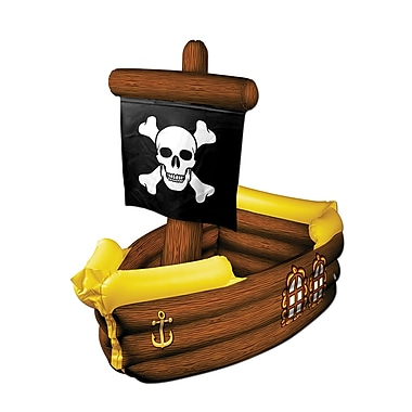 Inflatable Pirate Ship Cooler, 3' 3
