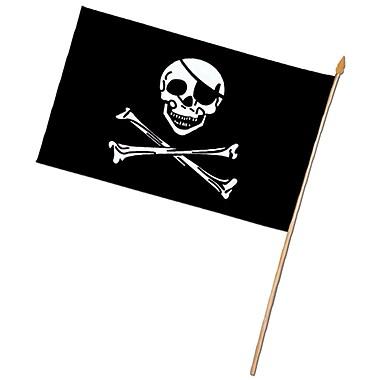 Drapeau de pirate en rayonne, 11 x 18 po, 6/paquet