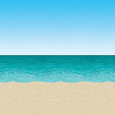 Beistle 4' x 30' Ocean and Beach Backdrop