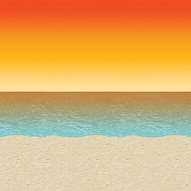 Beistle 4' x 30' Luau Sunset Backdrop