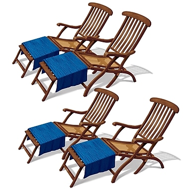 Cruise Ship Deck Chair Props, 3' 4