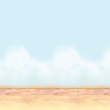 Arrière-plan désert, ciel et sable, 4 pi x 30 pi