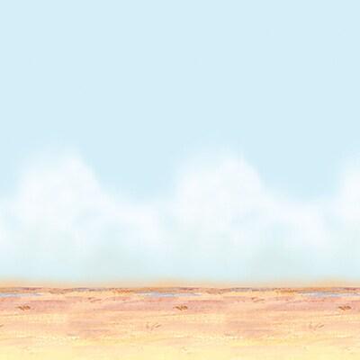 Beistle 4' x 30' Desert Sky and Sand Backdrop