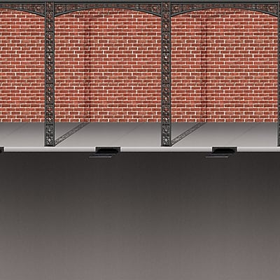 Beistle 4' x 30' Mardi Gras Brick Wall and Street Backdrop