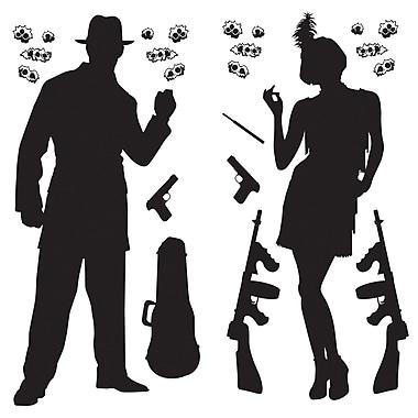 Accessoires de gangster, 2 po à 5 pi 3 po, 48/paquet