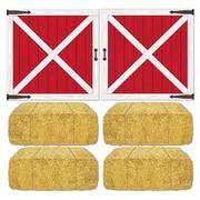 """Barn Loft Door & Hay Bale Props, 15-1/2""""-32-1/2"""", 12/Pack"""