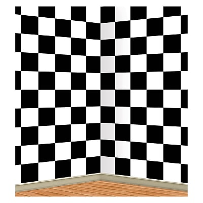 Beistle 4' x 30' Checkered Backdrop
