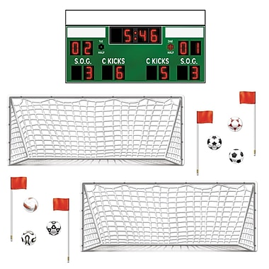 Accessoires décoratifs de soccer, entre 3 po et 3 pi 3/4 po, 39/paquet