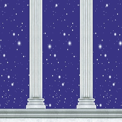Beistle 4' x 30' Column Backdrop