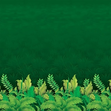 Beistle 4' x 30' Jungle Foliage Backdrop