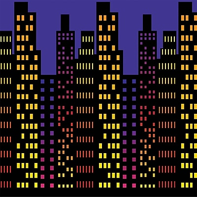 Beistle 4' x 30' Cityscape Backdrop