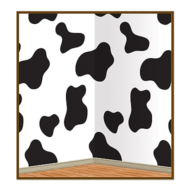 Beistle 4' x 30' Cow Print Backdrop