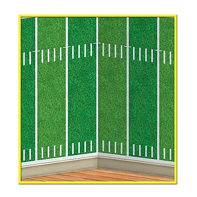 Beistle 4' x 30' Football Field Backdrop
