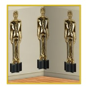 Beistle 4' x 30' Awards Night Male Statuettes Backdrop